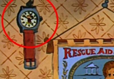 Mickey en un reloj.