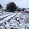 Nevadas intensas en la zona de Els Ports Castellón