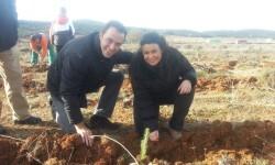 Oreto Segura y el alcalde Javier Berasaluce