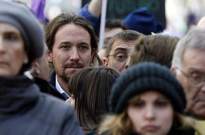Pablo Iglesias marchó como uno más de los asistentes. (Foto-Agencias)