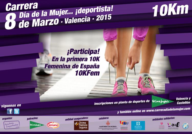 Cartel Oficial de la Carrera 10K Del Día de la Mujer