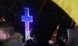 Protesta en Alemania contra los árabes que vivien allí. (Foto-AP)