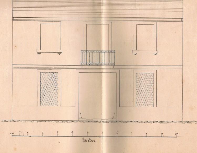 Proyecto Casa de los Roig. 1861. A. P. R. S.