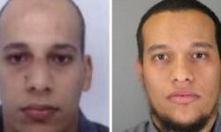 Retratos de los hermanos franceses Cherif y Said Kouachi, los dos principales sospechosos del atentado. (Foto-AFP y Policía de Francia)