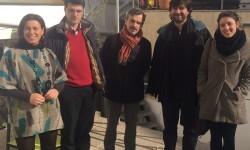 Reunion de Podemos con representantes de la Plataforma por un nuevo modelo energético.