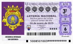 SORTEO DE LOTERÍA NACIONAL NIÑOS DE SAN ILDEFONSO24 DE ENERO DE 2015