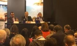 Samy Mahmoud, Presidente de la Autoridad Egipcia de Turismo; Ahmed Ismael, Embajador de Egipto en España y Mohamed M. Ismael.