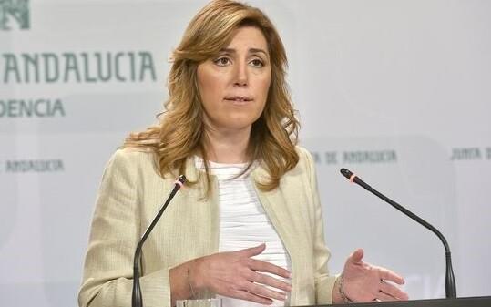 Susana Díaz en una de sus intervenciones como Presidenta d ela Junta de Andalucia. (Foto-Agencias)