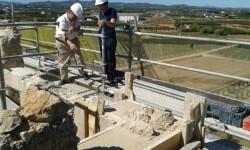Trabajos de rehabilitación sobre la histórica Torre.