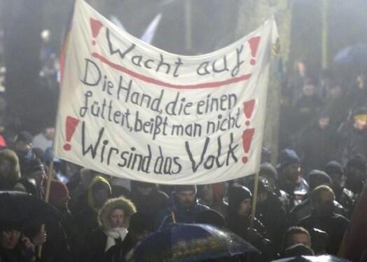 Una manifestación recorre las calles de Berlín. (Foto-AFP)