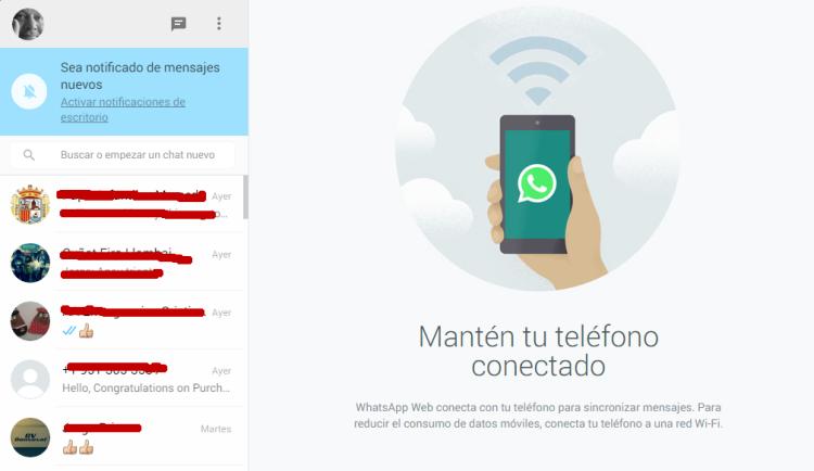 WhatsApp Web desde el ordenador portatil pc computadora-1