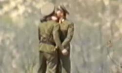 cámaras de seguridad de Corea del Sur captaron el beso
