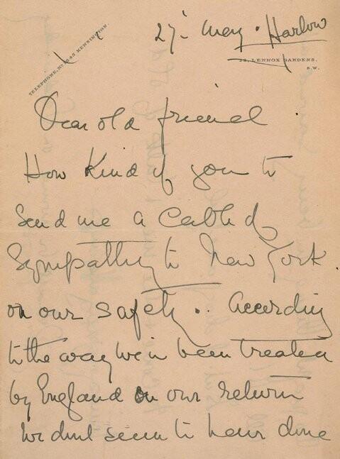 carta de una sobreviviente del Titanic