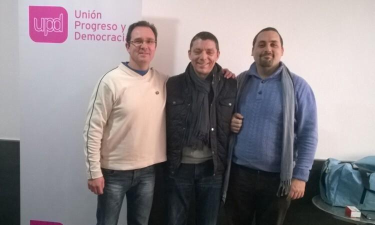 los tres candidatos tras conocerse los resultados gigante arias gato