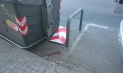 viento contenedor placa