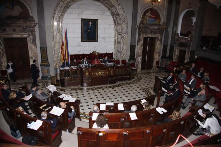 Una sesión plenaria del Ayuntamiento en el mandato que hoy finalizaba. Foto de archivo