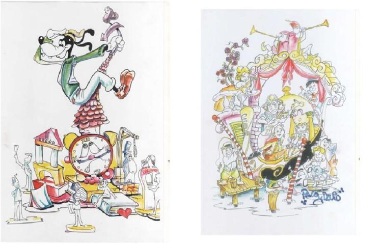 Falla Carteros-Litografo Pascual y Abad