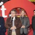Alapont, Grau, Vila y Saiz en la Presentación del premio teatro infantil.