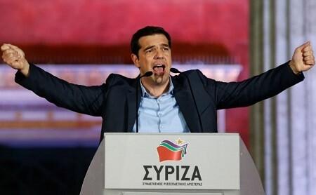 Alexis Tsipras el día de su victoria electoral.
