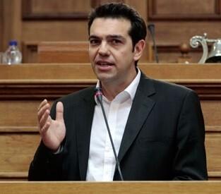 Alexis Tsipras habla frente a los parlamentarios griegos sobre la deuda griega. (Foto-AFP)