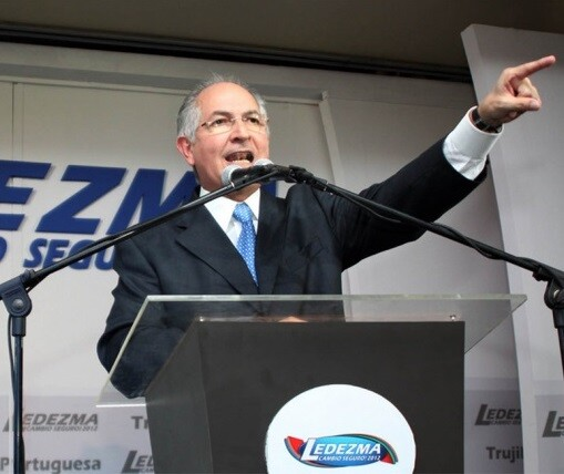 Antonio Ledezma en un acto de campaña electoral. (Foto-Agencias)