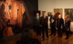 Antonio Marco Molés en la inuguración de su exposición.