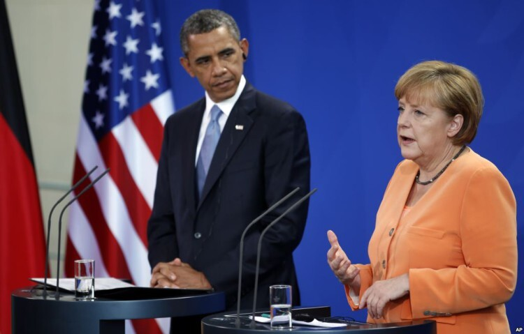 Barack Obama y Angela Merkel en una foto de archivo.