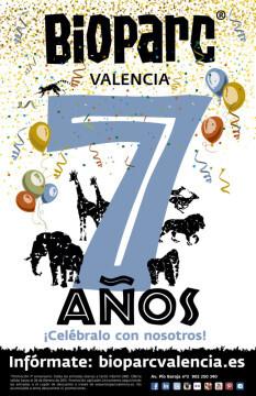 Cartel del 7º Aniversario de Bioparc Valencia