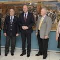 Blanca Pons-Sorolla; Rafael Alcón, presidente de Fundación Bancaja; Alberto Fabra, presidente de la Generalitat; Marcus Burke, conservador jefe de la H.S.A.merica y Carmen Pérez, directora delIVC+r CulturArts.