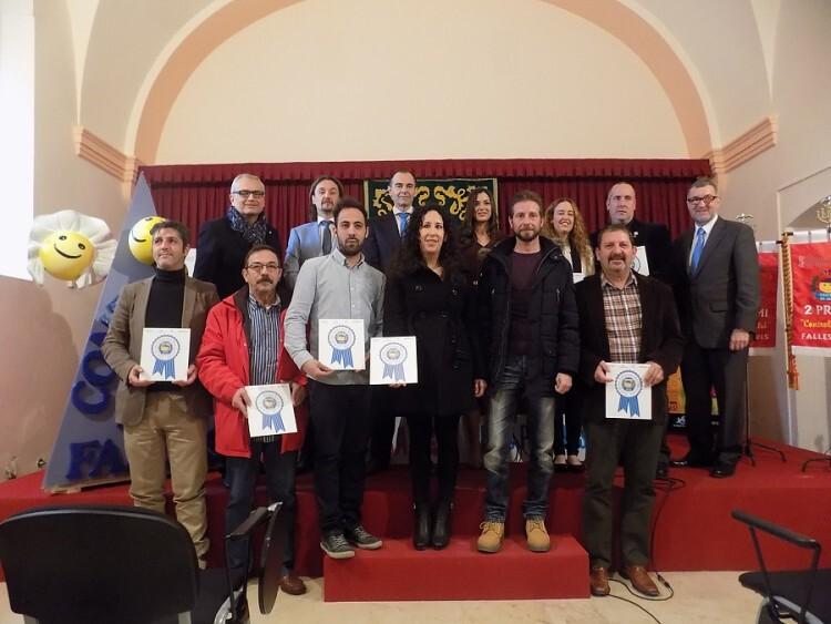 Foto de grupo con todos los galardonados por Controla Club en 2014.
