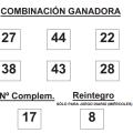 COMBINACIÓN GANADORA DE BONO LOTO DE FECHA 18 DE FEBRERO DE 2015