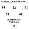 COMBINACIÓN GANADORA DE EL GORDO DE LA PRIMITIVA DE FECHA 8 DE FEBRERO DE 2014.