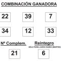 COMBINACIÓN GANADORA DEL SORTEO DE BONOLOTO DE FECHA 3 DE FEBRERO DE 2015