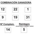 COMBINACIÓN GANADORA DEL SORTEO DE BONOLOTO DE FECHA 6 DE FEBRERO DE 2015.