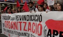 Cabeza de la manifestación estudiantil.