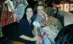 Carla Petrie y Esther en la presentación de Valencia