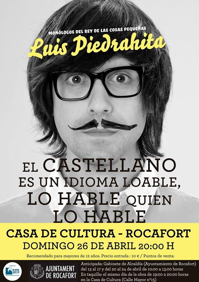 Cartel Luis Piedrahita · Rocafort