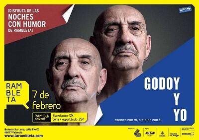 Cartel del espectáculo de Godoy.