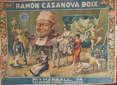 Cartel publicitario obra de Barreira del año1938.