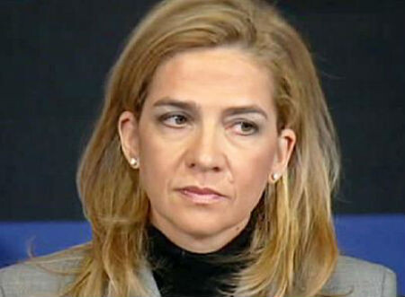 Cristina de Borbón a la salida de la audiencia el paso año. (Foto-Archivo)