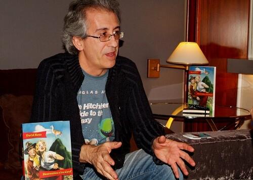 David Roa en un momento de la entrevista.
