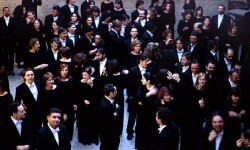 El Cor de la Generalitat Valenciana momentos antes de una actuación. (Foto-Tania Castro)