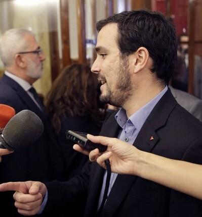 El candidato de IU a la Presidencia del Gobierno, Alberto Garzón mostró su desacuerdo con las palabras del presidente.