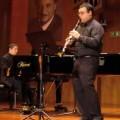 El clarinetista Javier Olmeda Noguera en una de sus actuaciones.