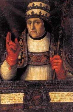 El papa Calixto III representado por el pintor valenciano Juan de Juanes.