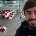 Fernando Alonso en una imagen difundida por Twiiter.