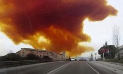 Fotos y vídeo una impresionante nube tóxica puso en alerta a Barcelona (5)