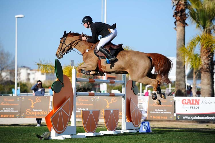 during Gold 4 competition at CSI Mediterranean Equestrian Tour II at Oliva Nova Equestrian Center, Oliva - Spain