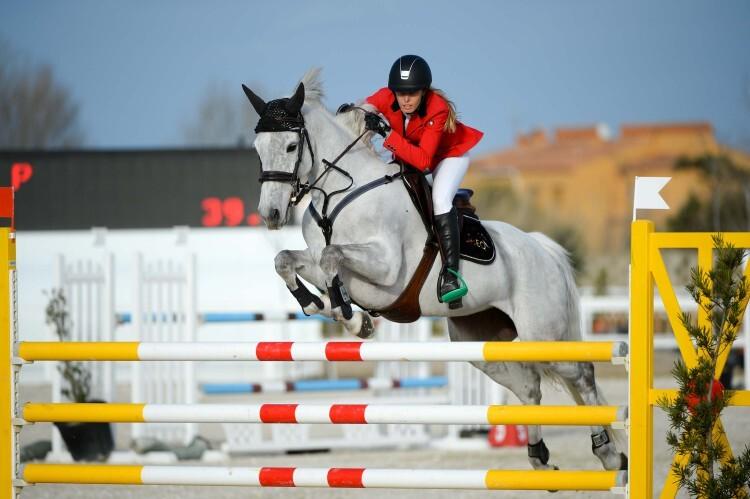 during Gold 1 competition at CSI Mediterranean Equestrian Tour I at Oliva Nova Equestrian Center, Oliva - Spain