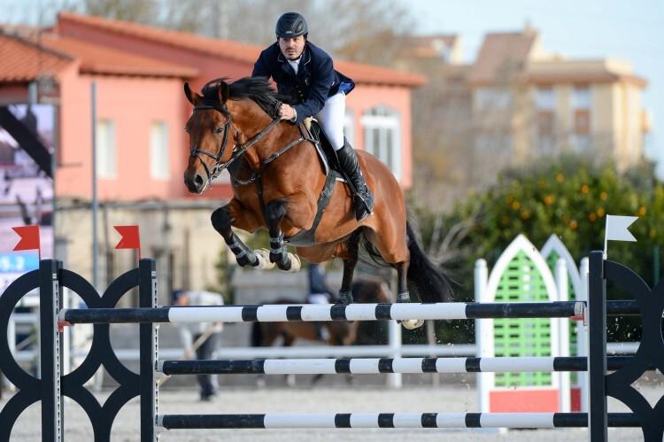 during gold 4 competition at CSI Mediterranean Equestrian Tour I at Oliva Nova Equestrian Center, Oliva - Spain